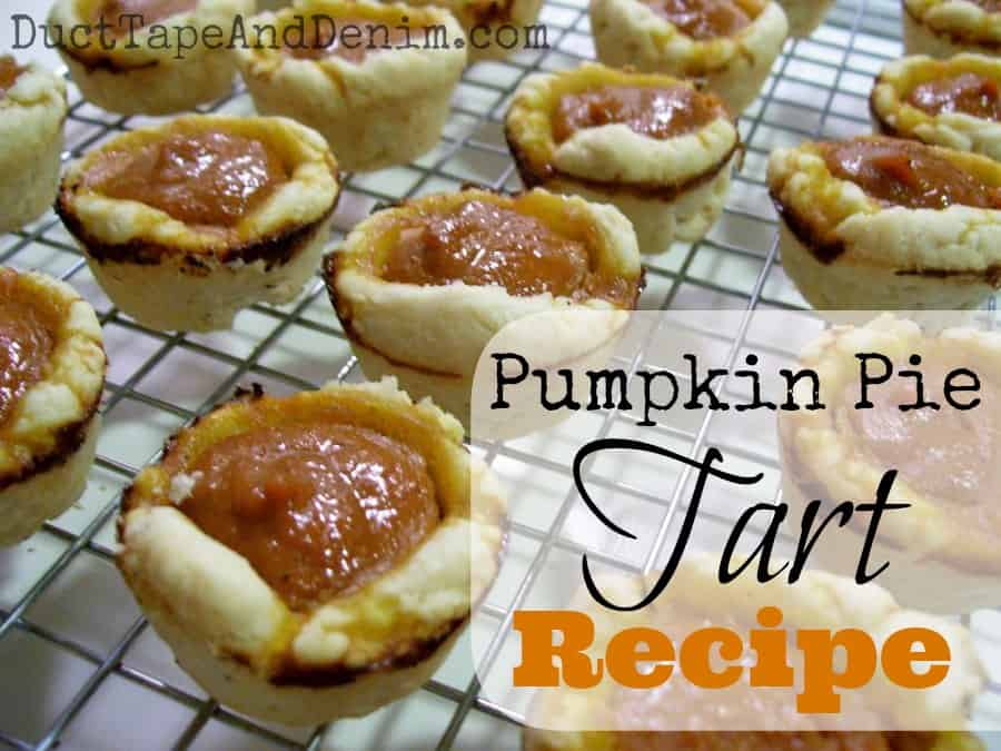 Pumpkin Pie Tart Recipe | DuctTapeAndDenim.com