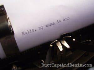 Hello my name is Ann. My vintage typewriter find. | DuctTapeAndDenim.com