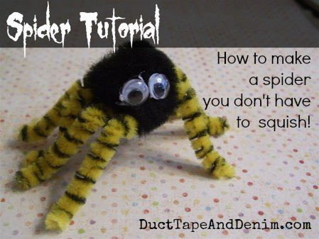 Our First Tutorial – Halloween Spider Tutorial