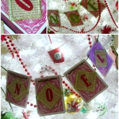 How to Make a NOEL Playing Card Christmas Garland Decoration