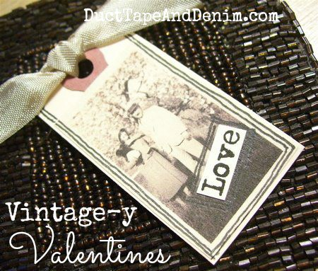 Vintage-y Valentines with copies of old photos for Valentine's Day | DuctTapeAndDenim.com
