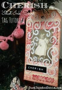 CHERISH Idiot Ink Valentine Tag Tutorial | DuctTapeAndDenim.com