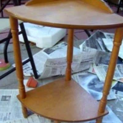 How to Turn a $5.00 Corner Table into Something Useful