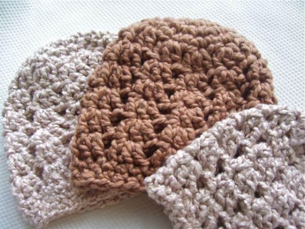 Crocheted Baby Hats