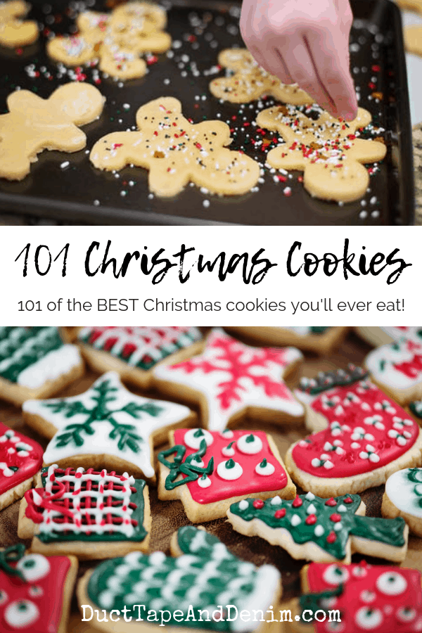 101 christmas cookie recipes, collage 1