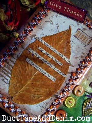 Claudia's Thanksgiving art journal. #30DoT - 30 Days of Thanksgiving | DuctTapeAndDenim.com