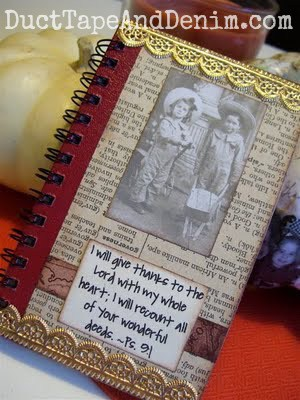 One of my Thanksgiving journals. #30DoT - 30 Days of Thanksgiving, 4 journal ideas | DuctTapeAndDenim.com