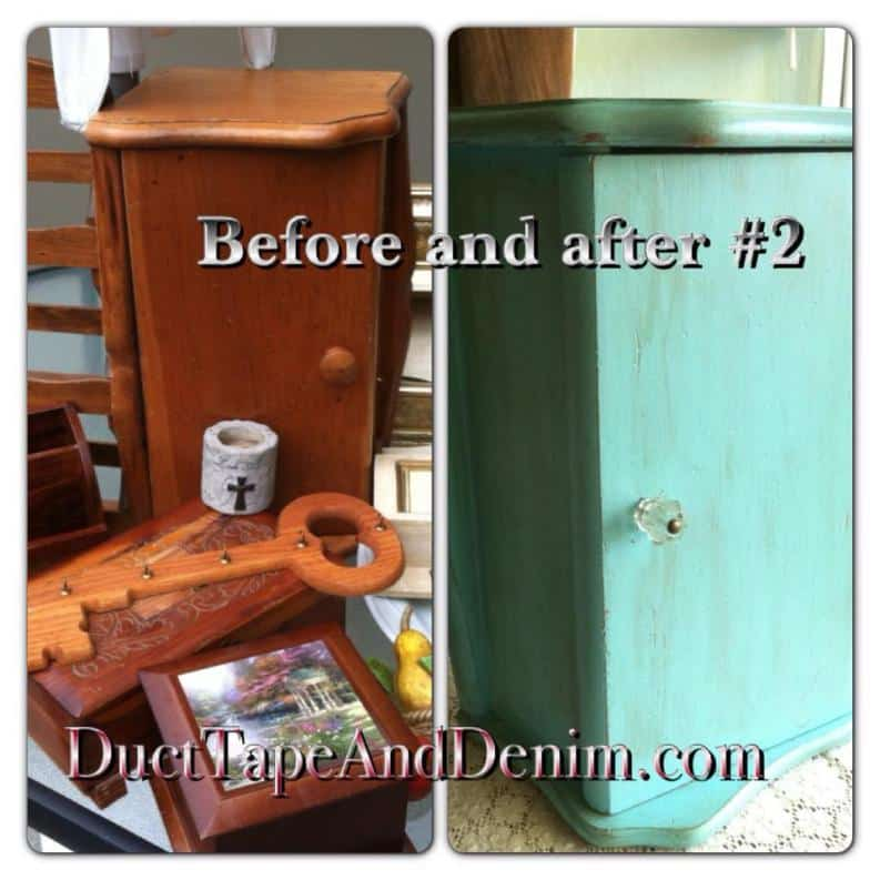 Painted Bread Box | Repurposed Jewelry Cabinet