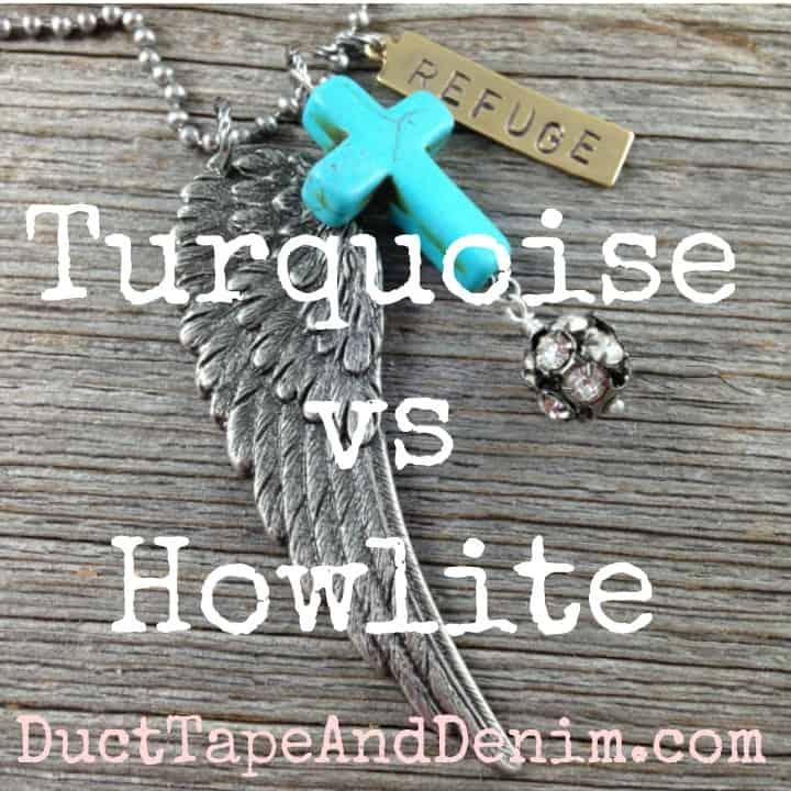 Turquoise vs howlite SQUARE