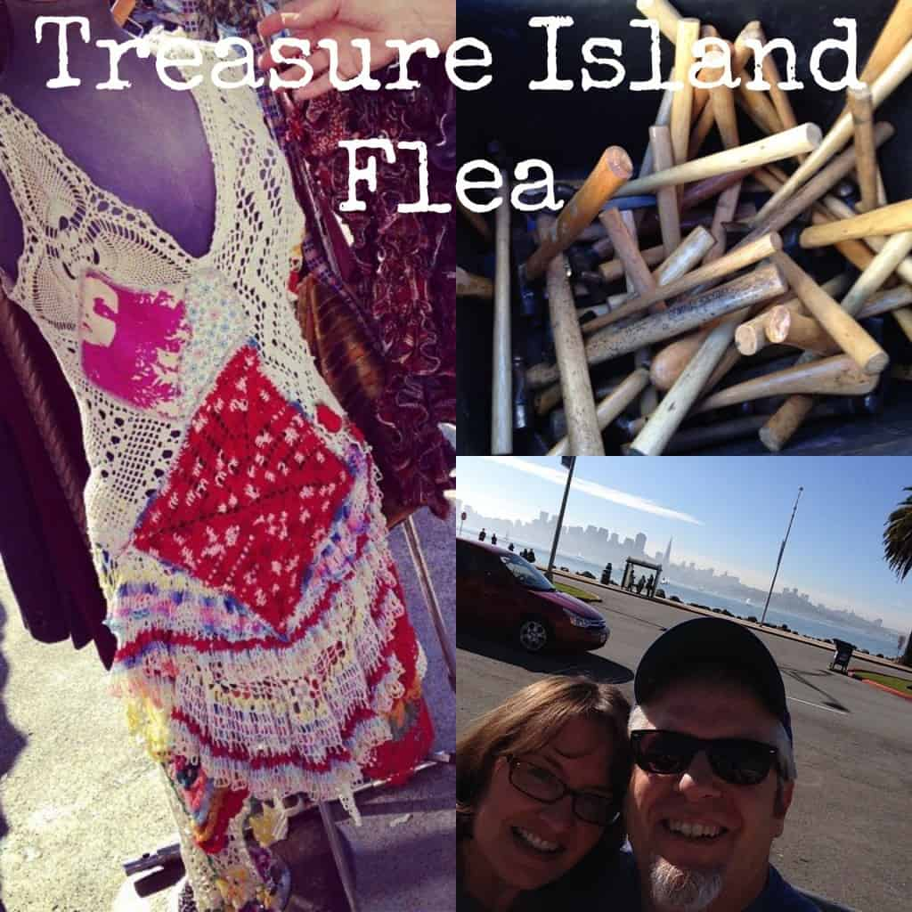 Treasure Island Flea Market in San Francisco, California. Vintage clothing, jewelry, furniture, fashion and food trucks, and more! | DuctTapeAndDenim.com