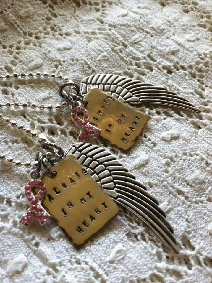 Wing Memory Necklaces Breast Cancer | DuctTapeAndDenim.etsy.com
