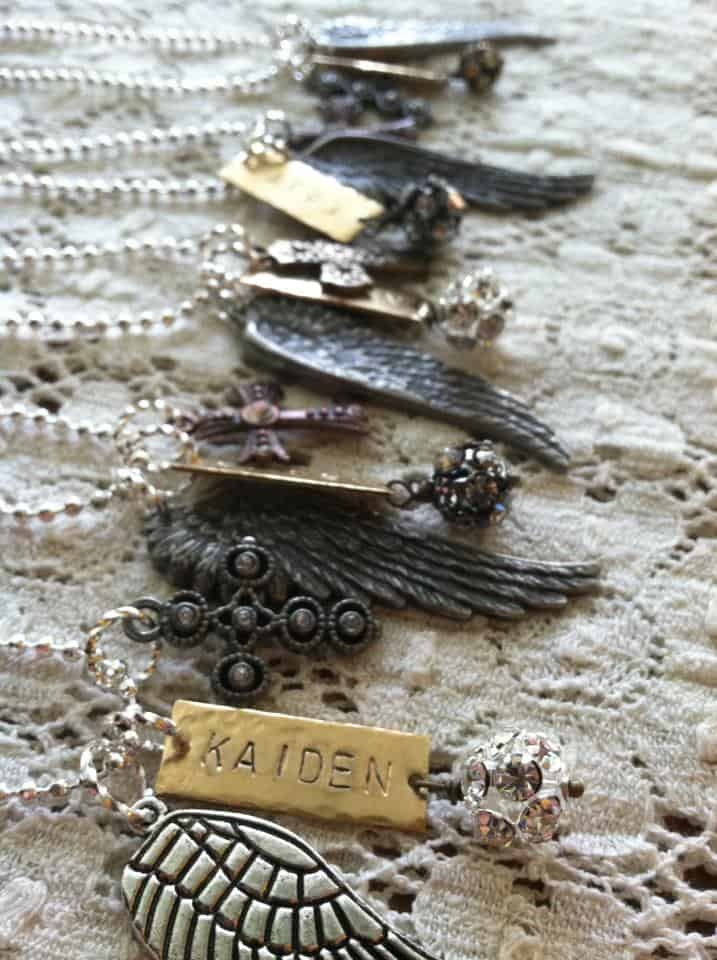 Wing Necklaces for KAIDEN | DuctTapeAndDenim.com