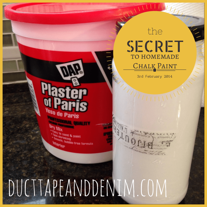 Secret to Homemade Chalk Paint | DuctTapeAndDenim.com
