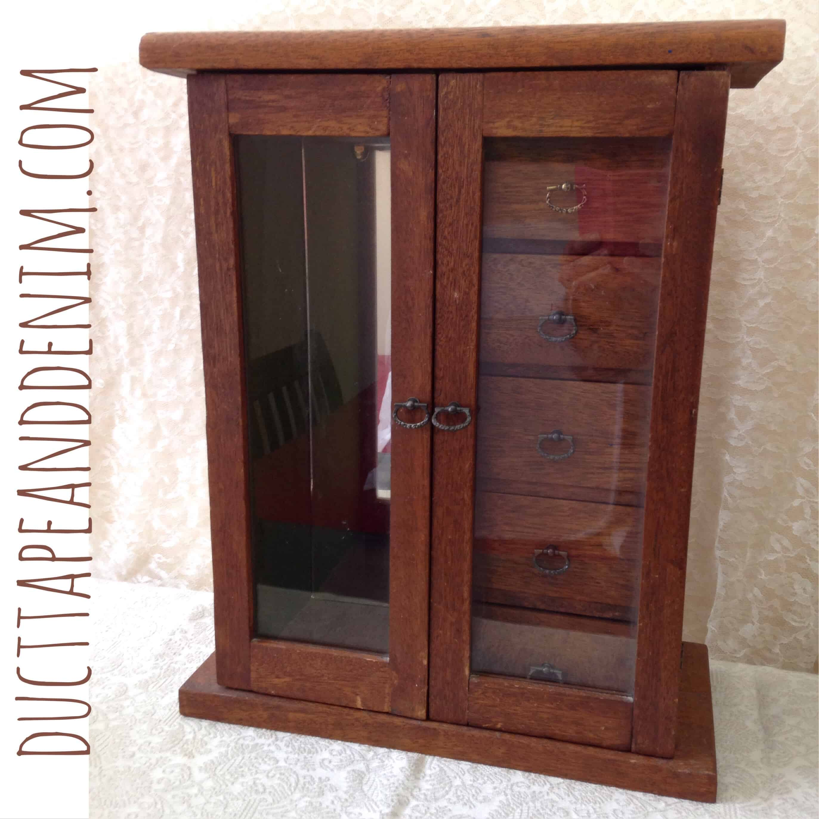 Update on the Wooden Jewelry Cabinet… Makes it Even MORE Amazing!