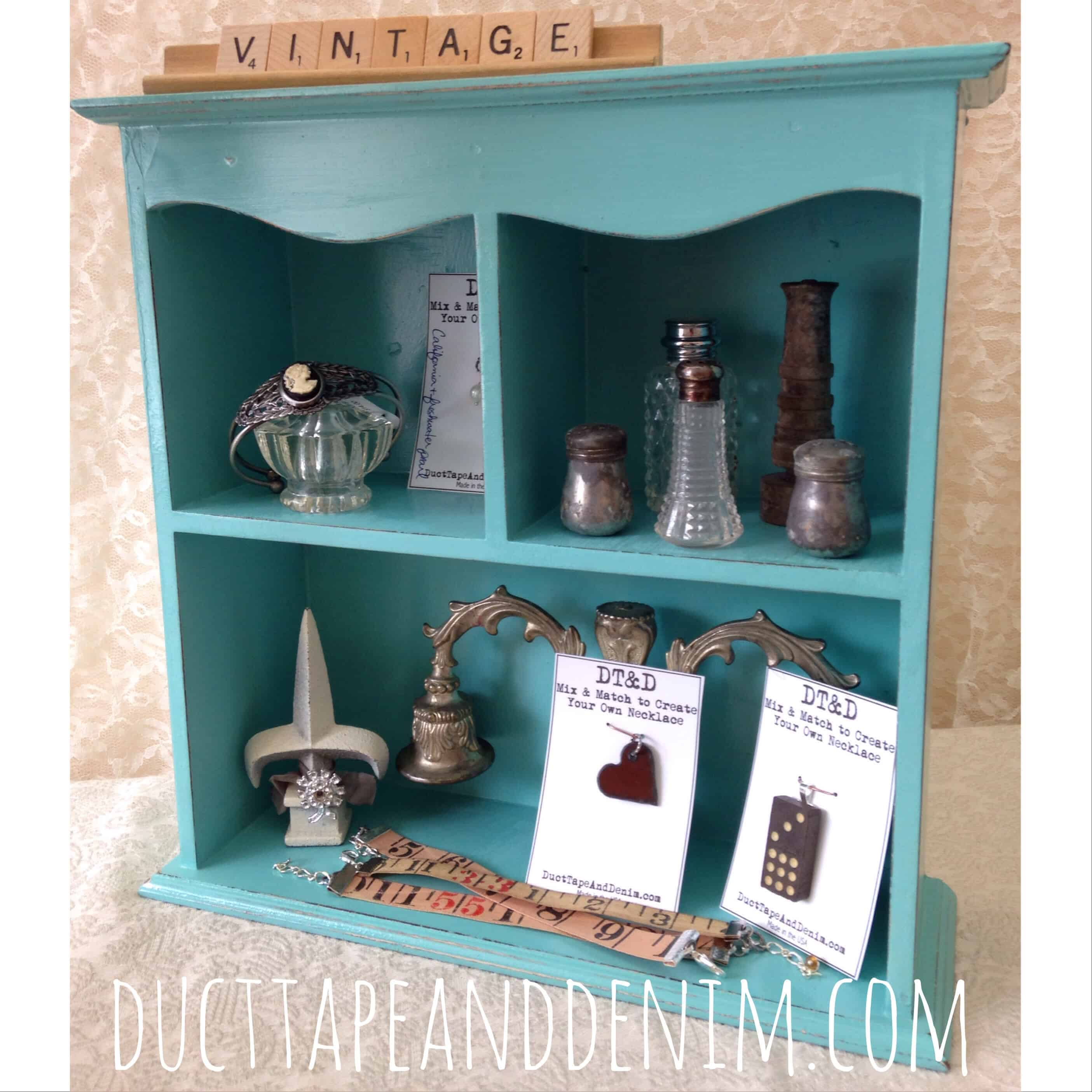 Homemade Chalk Paint Shelf