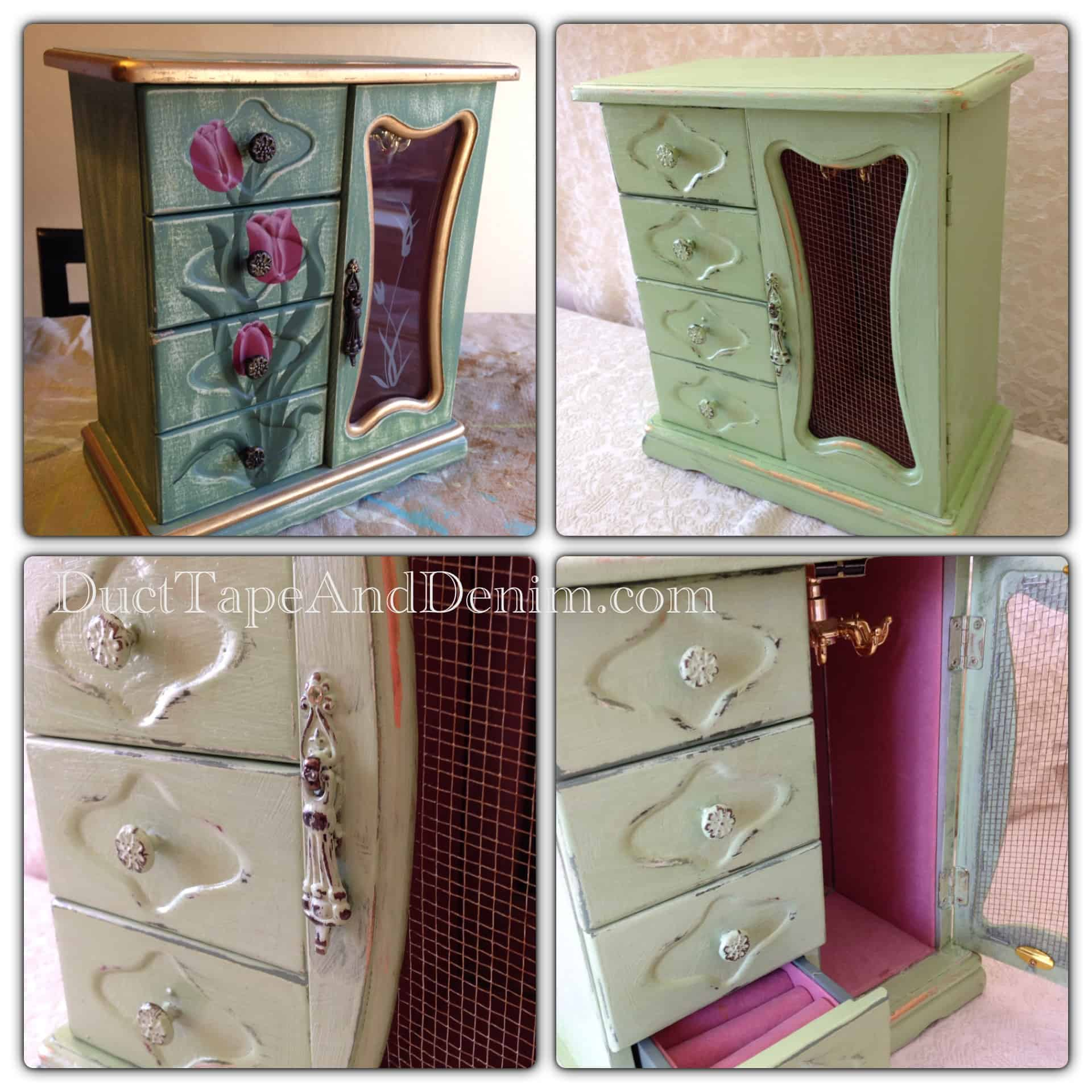 CeCe Caldwell Paint Tutorial | Painted Jewelry Cabinet in Kentucky Mist