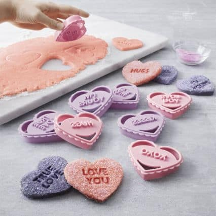Sur La Table Conversation Heart Sugar Cookies ~ Cookie Cutters for Valentine's Day | DuctTapeAndDenim.com