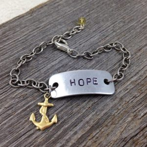 HOPE Bracelet with Anchor Charm | DuctTapeAndDenim.com