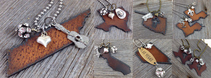 I Love My State Necklaces | Wholesale handmade jewelry made in USA