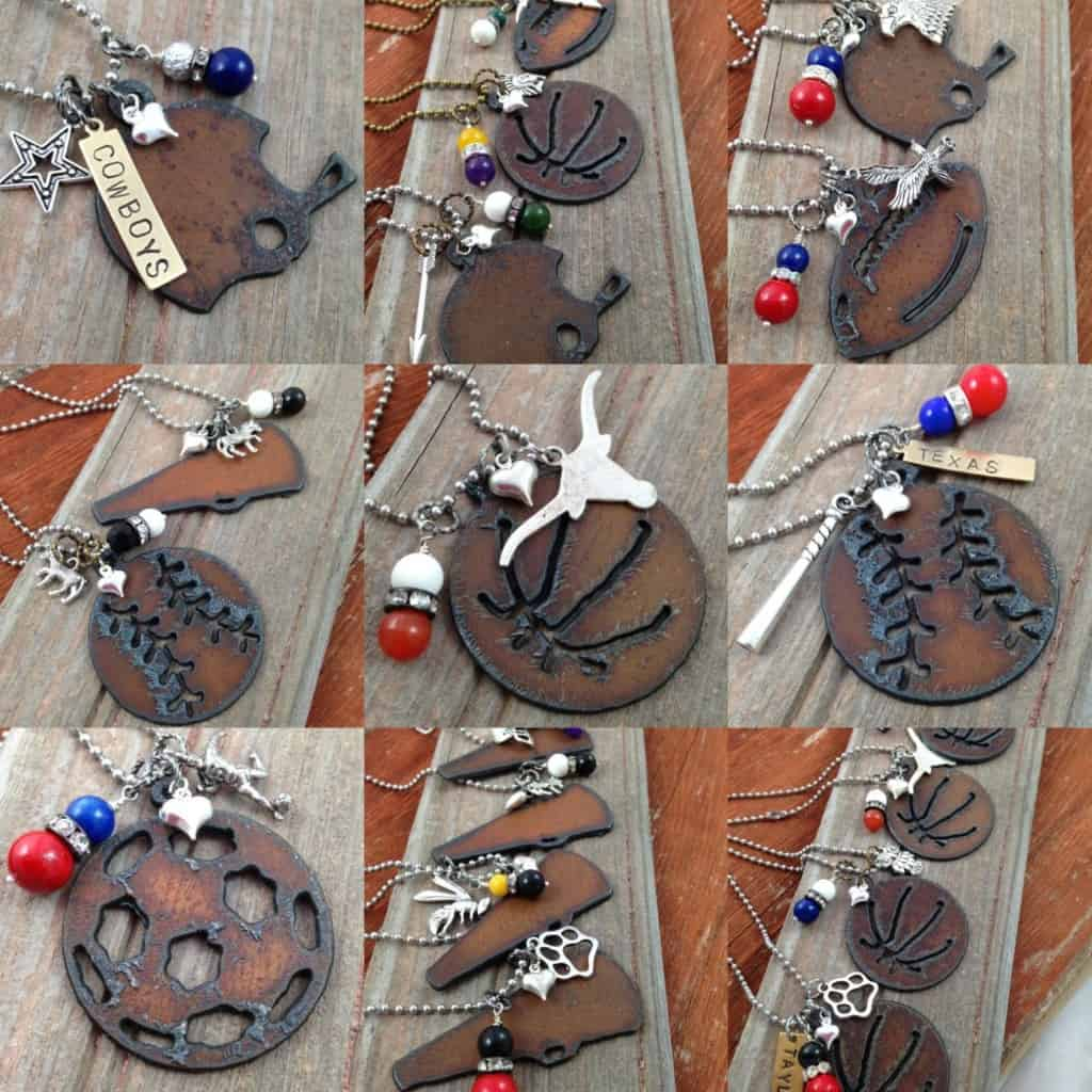 I Love Sports Necklaces wholesale handmade jewelry Made in USA| DuctTapeAndDenim.com