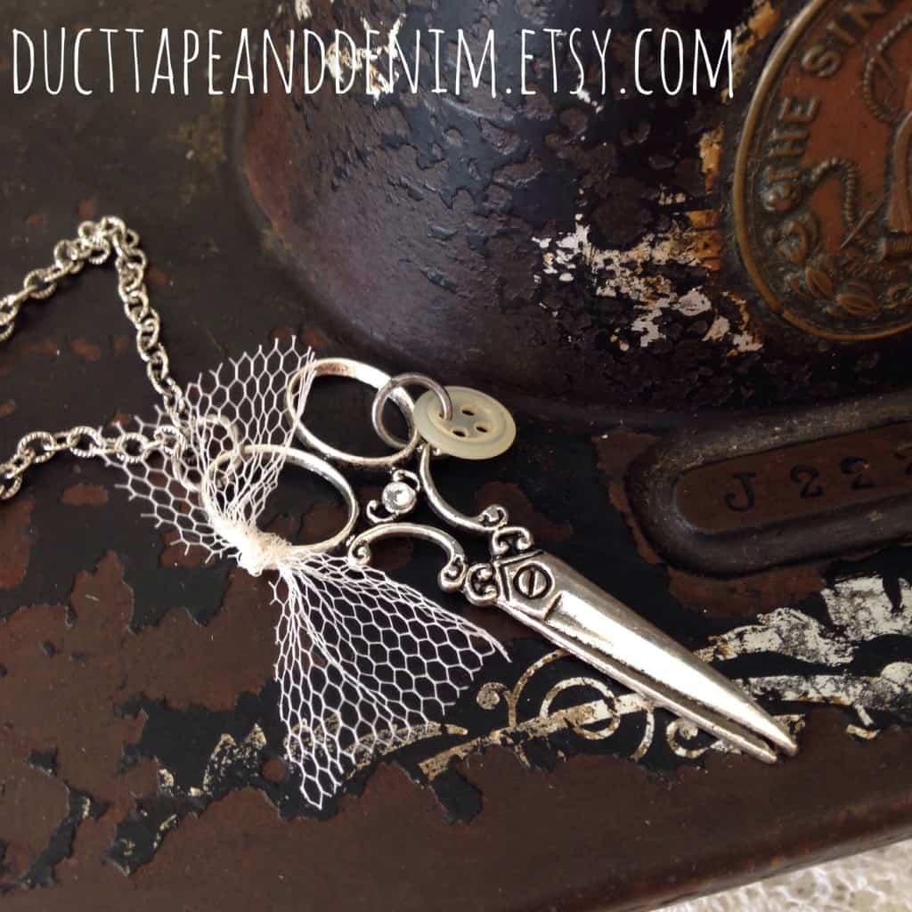 I Run With Scissors Necklace | DuctTapeAndDenim.com