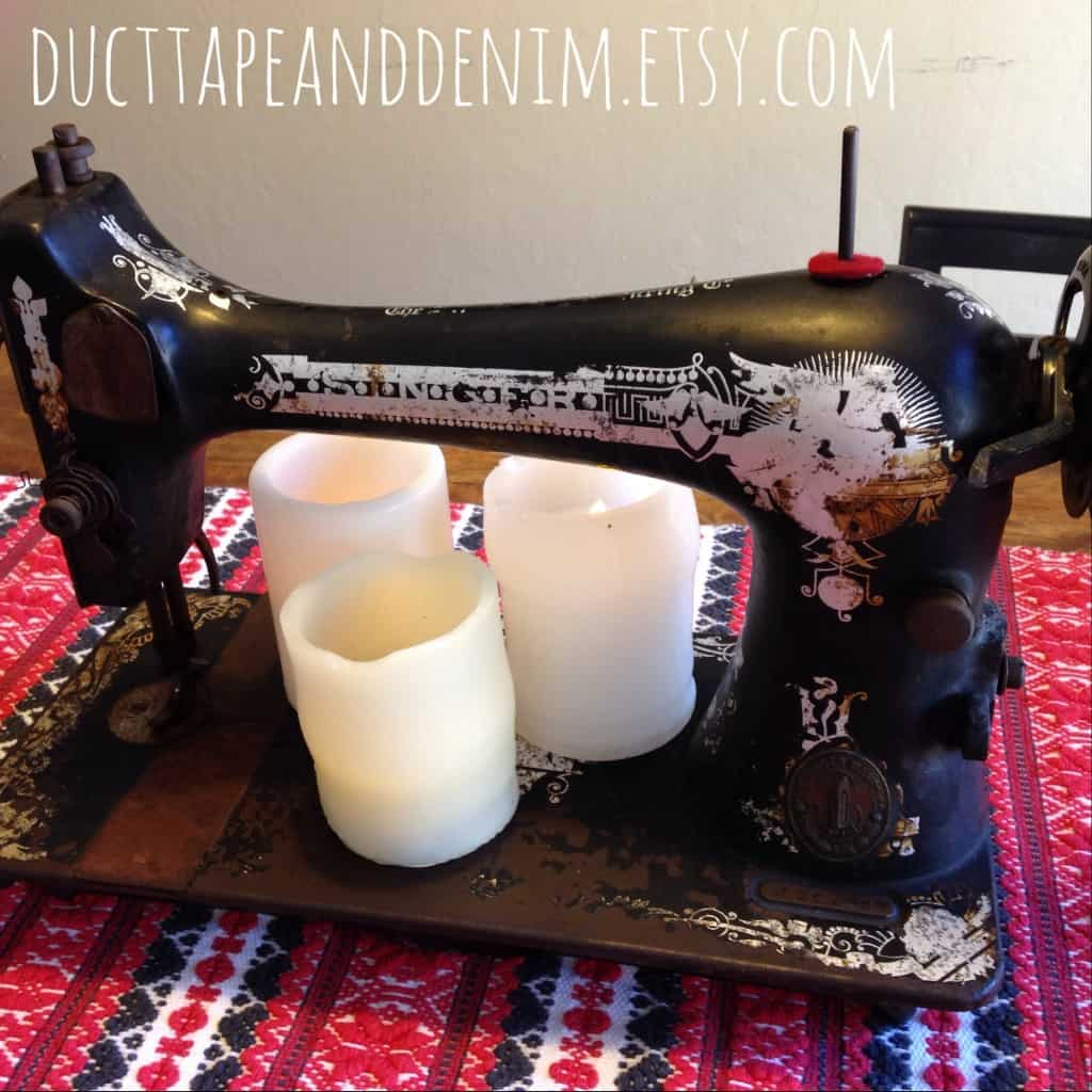 Vintage Singer Sewing Machine | DuctTapeAndDenim.com