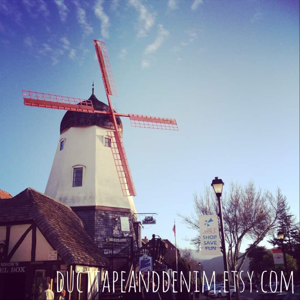 Windmill in Solvang, California | DuctTapeAndDenim.com