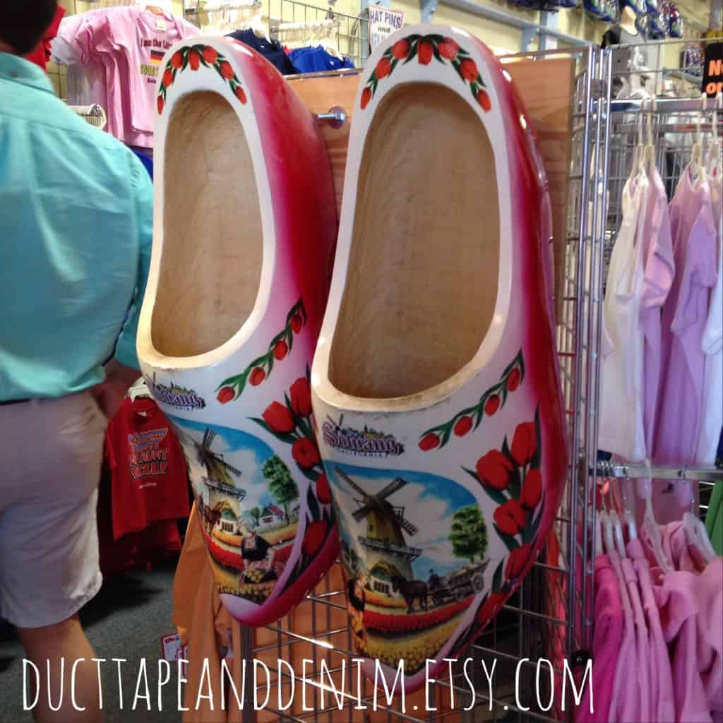 Giant Danish wooden shoes in Solvang, California | DuctTapeAndDenim.com
