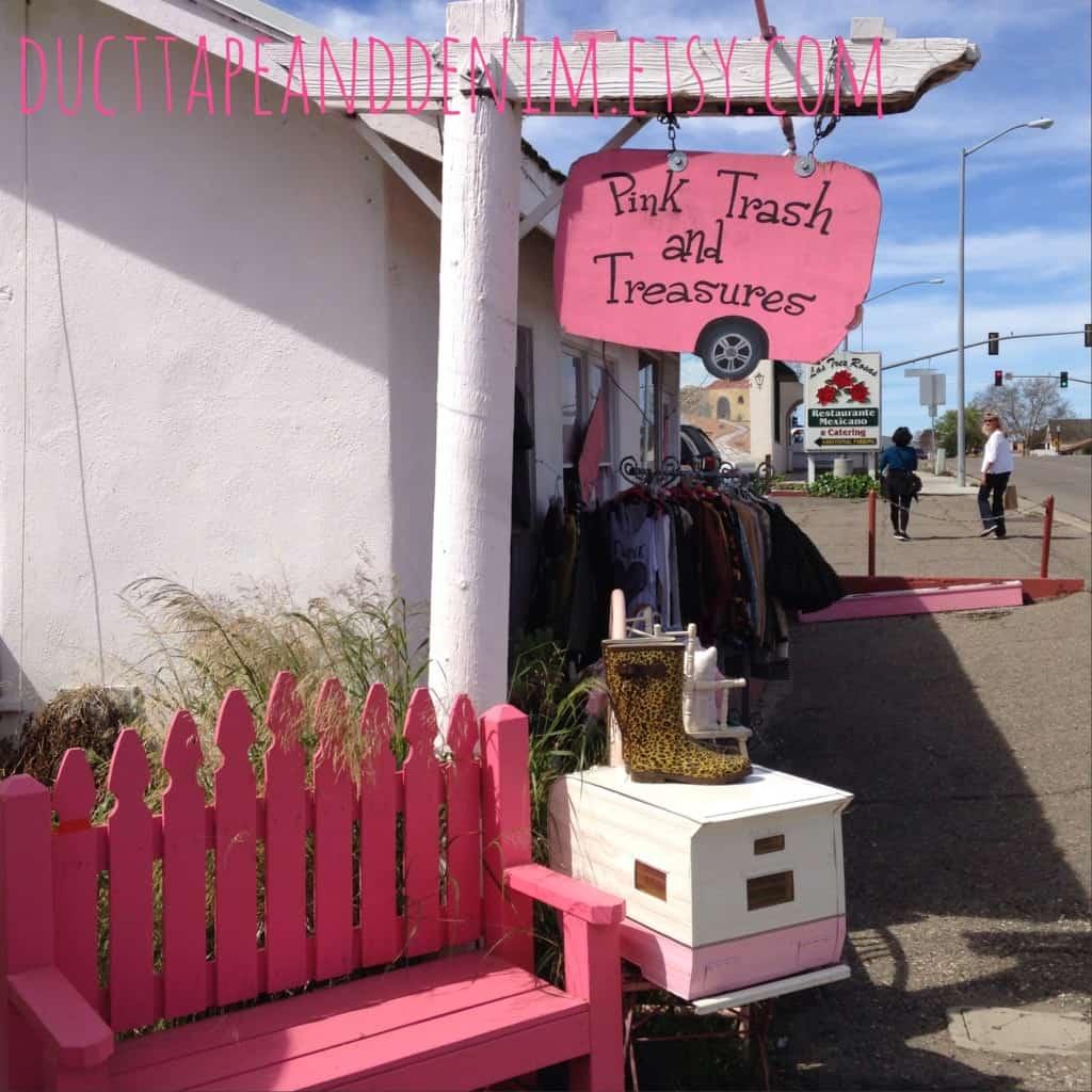 Pink Trash and Treasure Boutique, Vintage Camper | DuctTapeAndDenim.com