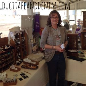 Me and my booth and Roadside Relics Vintage Market | DuctTapeAndDenim.com