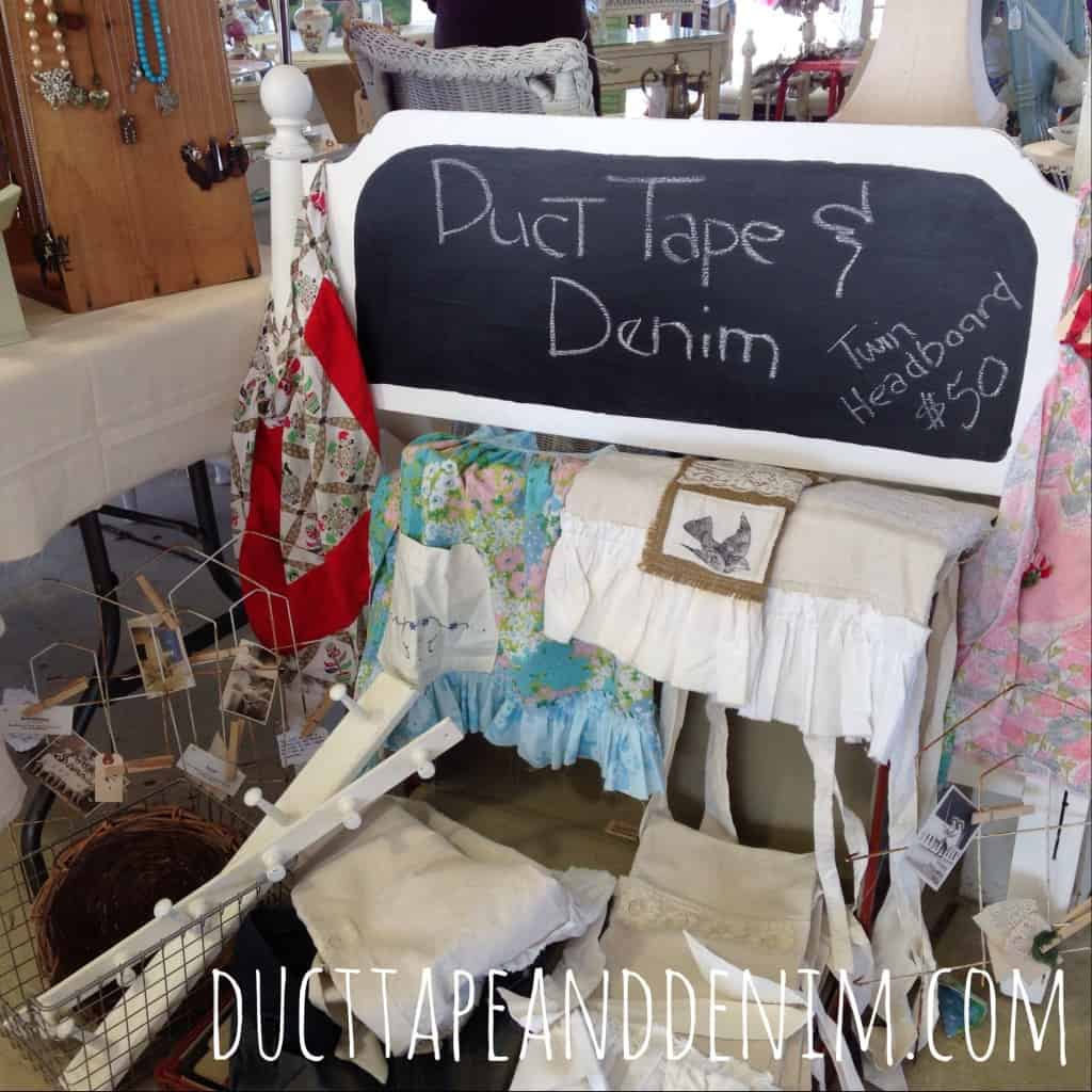 I used my homemade chalk paint and store bought chalkboard paint on this thrift store find to make my sign. | DuctTapeAndDenim.com