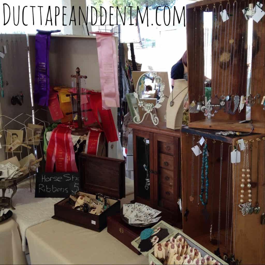 This is the right table in my Roadside Relics booth. | DuctTapeAndDenim.com