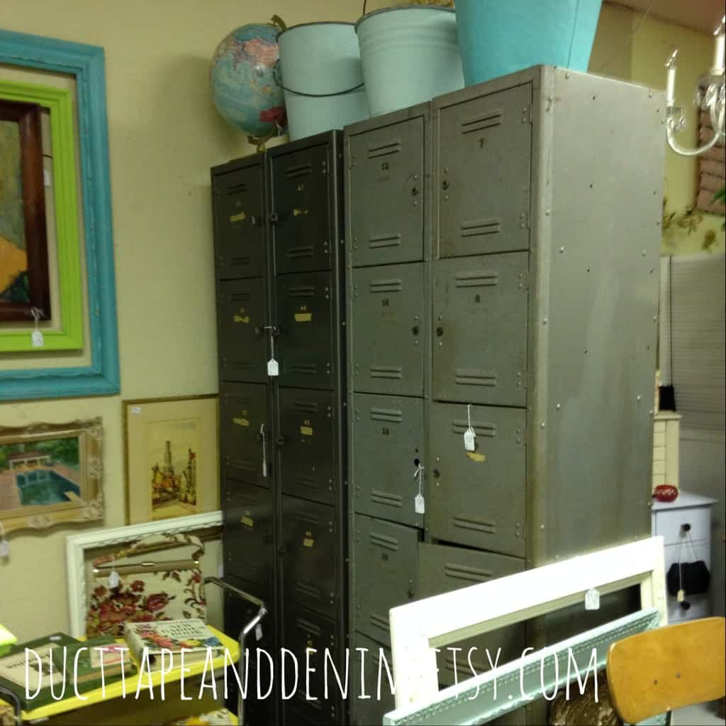Vintage lockers at Room With a Past. | DuctTapeAndDenim.com