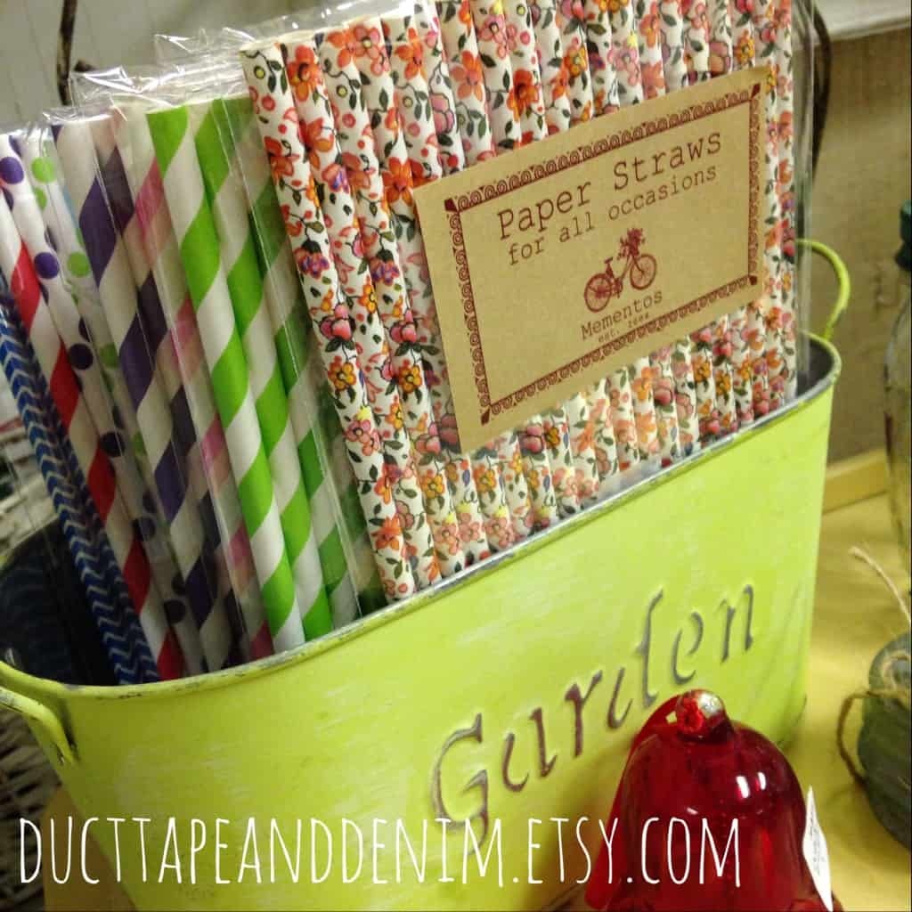 Mementos decorative straws | DuctTapeAndDenim.com