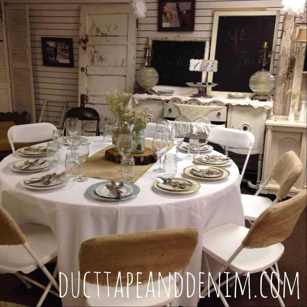 Vintage wedding rentals at Sweet Beginnings | DuctTapeAndDenim.com