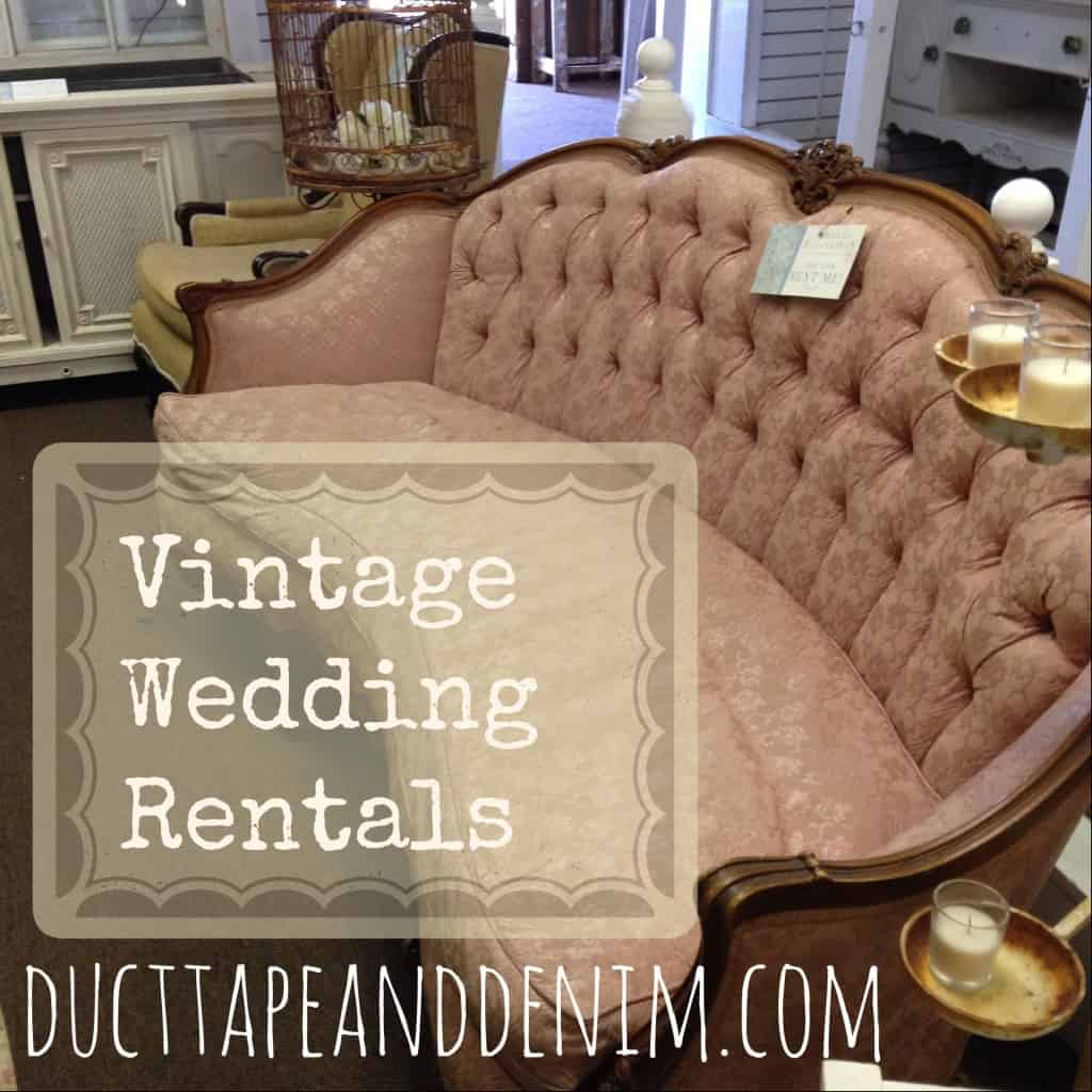 Renting vintage wedding furniture. | DuctTapeAndDenim.com