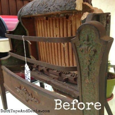 Repurposed Vintage Heater Turned Planter