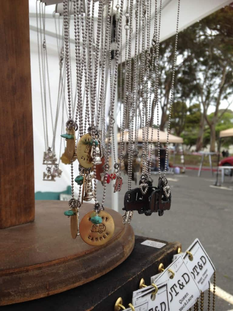 Happy Camper necklaces at Treasure Island Flea | DuctTapeAndDenim.com