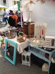 Left side of booth at Treasure Island Flea | DuctTapeAndDenim.com