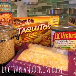 Ingredients for my quick and easy enchilada recipe | DuctTapeAndDenim.com