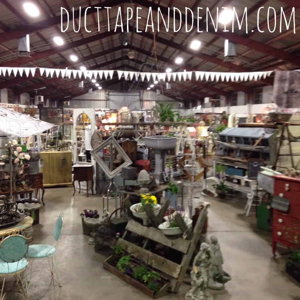 Inside the barn at Roses and Rust Vintage Market | DuctTapeAndDenim.com