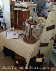 Side table at the Roadside Relics Vintage Market   DuctTapeAndDenim.com