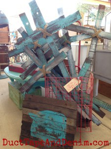 Wooden crosses by Vintage Farmhouse at the Roadside Relics Vintage Market | DuctTapeAndDenim.com
