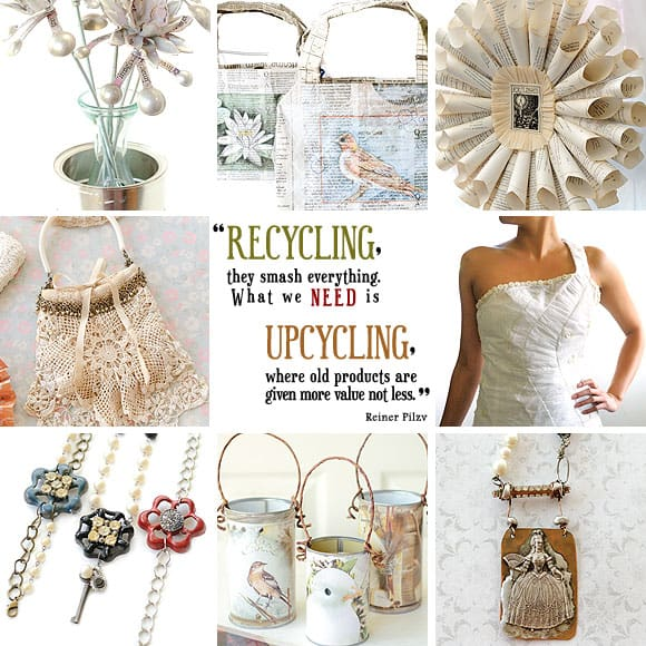 My Shabby Garden Party upcycled jewelry made the Stampington Magazine blog, Somerset Place | DuctTapeAndDenim.com