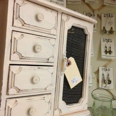 CeCe Caldwell Portland Rose Before and After Jewelry Cabinet