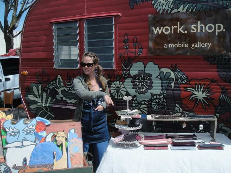 work.shop.a mobile gallery at Treasure Island Flea
