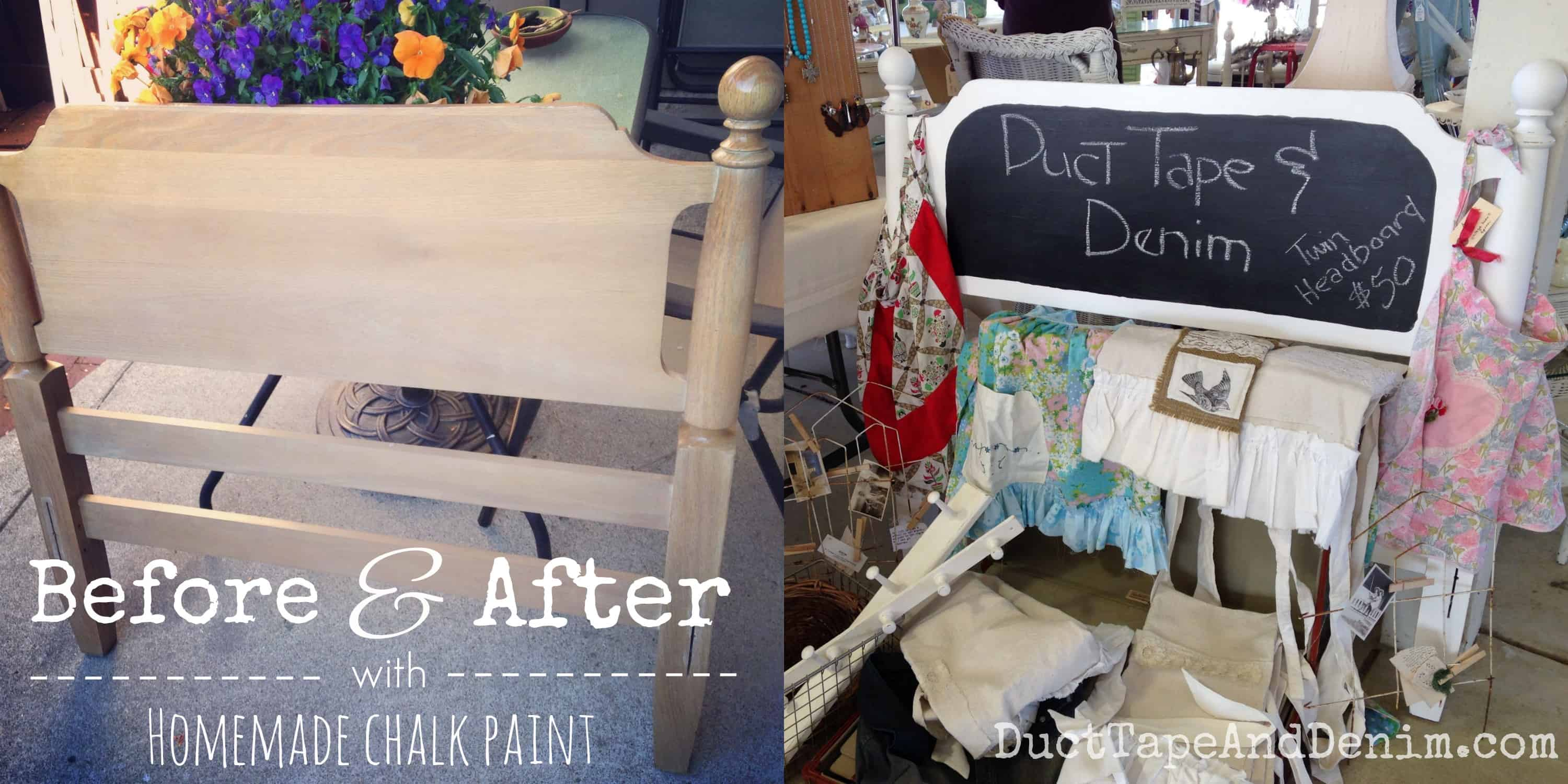 Homemade Chalk Paint Chalkboard Sign