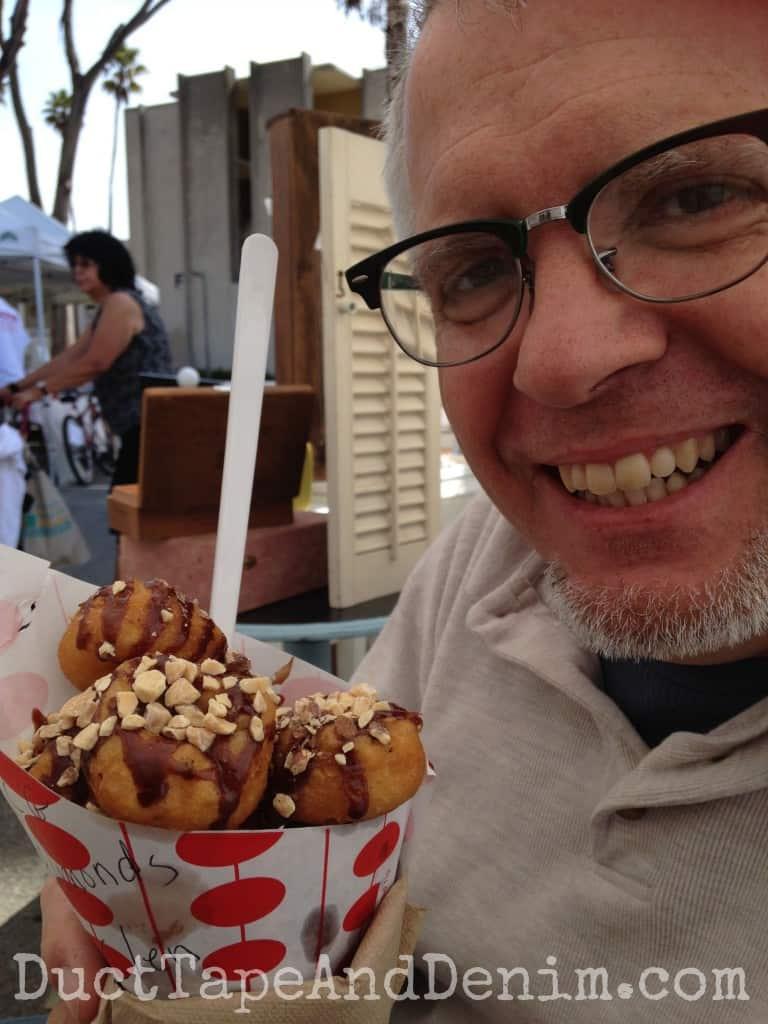 Delicious fresh doughnuts at Treasure Island Flea | DuctTapeAndDenim.com