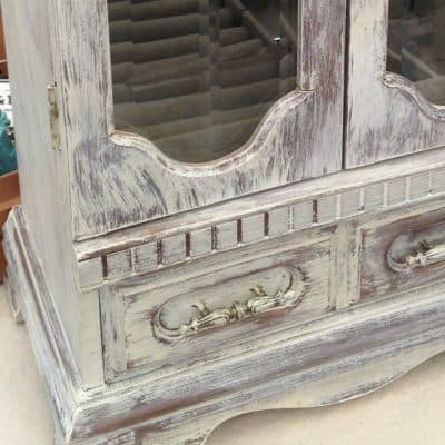 Dry Brushing CeCe Caldwell Paint on Jewelry Cabinet