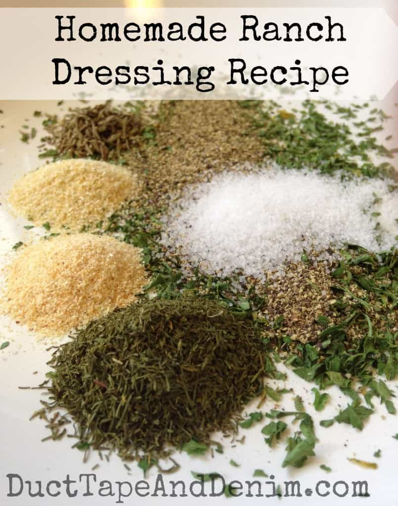 Homemade Ranch Dressing Recipe. Easy, sugar-free | DuctTapeAndDenim.com